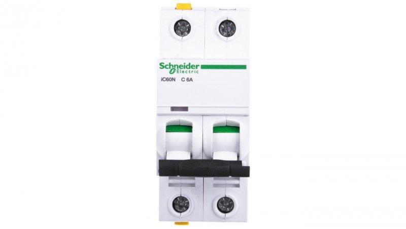 Wyłącznik nadprądowy 2P C 6A 6kA AC iC60N-C6-2 A9F04206
