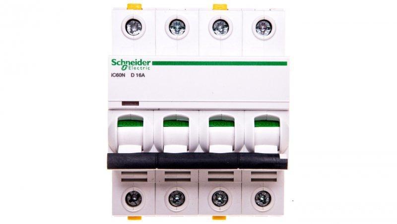 Wyłącznik nadprądowy 4P D 16A 6kA AC iC60N-D16-4 A9F05416