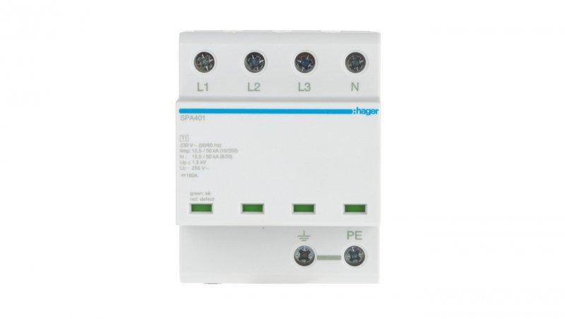 Ogranicznik przepięć B+C Typ 1+2 4P 12,5kA TN-S/TT monoblok SPA401