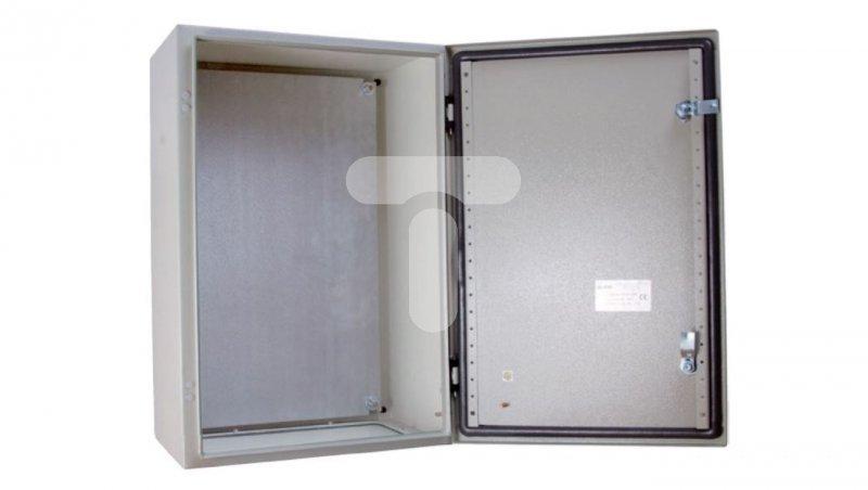 Obudowa metalowa 400x300x220mm IP65 z płytą montażową RN 304021 (RAL 7035) R30RS-01011100700