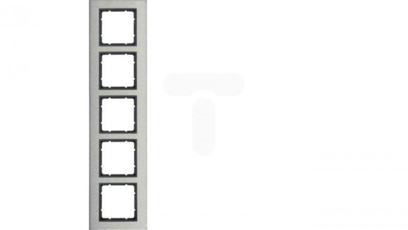 B.7 Ramka 5-krotna pozioma stal szlachetna/antracyt 10253606