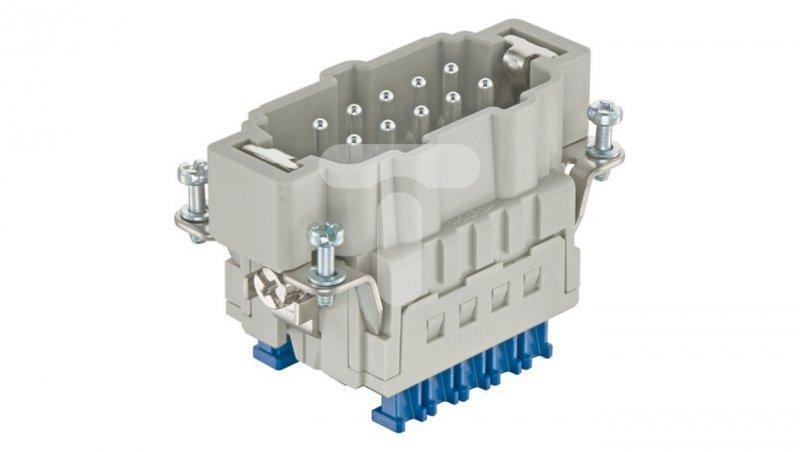 Złącze (wkład) (0,14-2,5 mm2) 10+PE męskie 500V 16A Han ES Press 09330102648