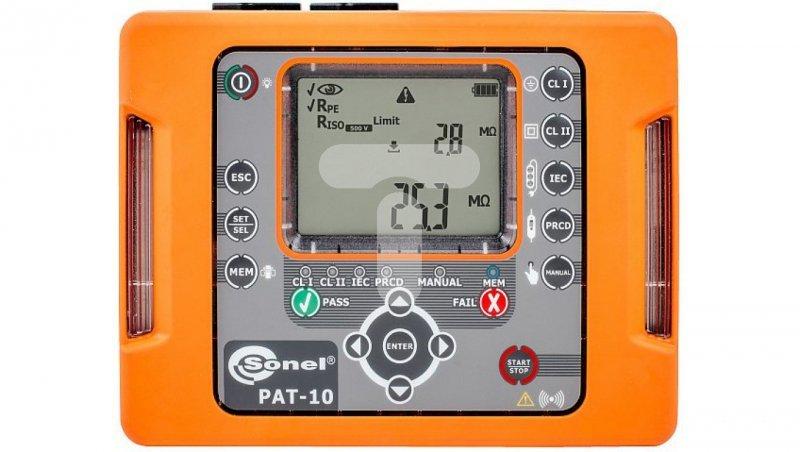 Miernik bezpieczeństwa sprzętu elektrycznego PAT-10 WMPLPAT10