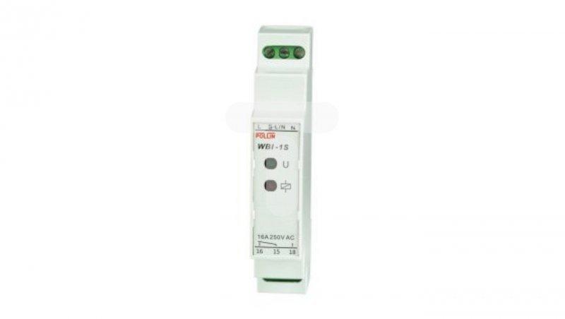Przekaźnik bistabilny uniwersalny 1P 16A 230V TH35 /zwiększona odporność/ WBI-1Si