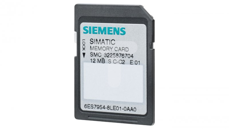 Karta pamięci SIMATIC S7 do S7-1X00 CPU/SINAMICS 6ES7954-8LE03-0AA0