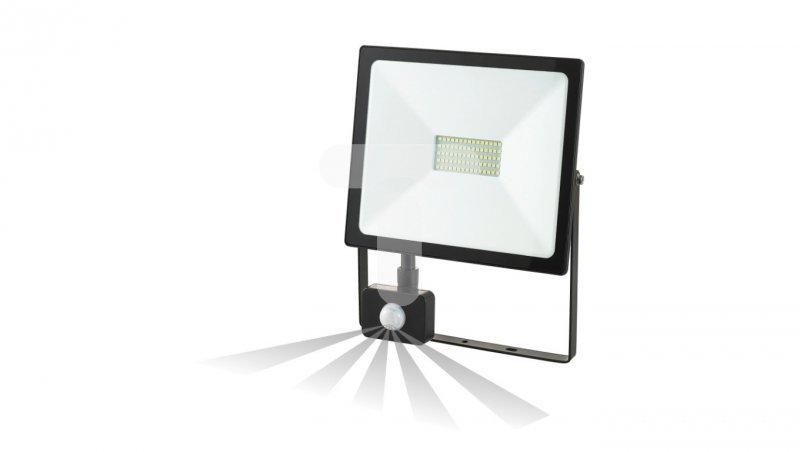 Projektor LEDO LED 50W 4000lm z czujnikiem ruchu PIR IP44 4000K czarny OR-NL-6082BLR4