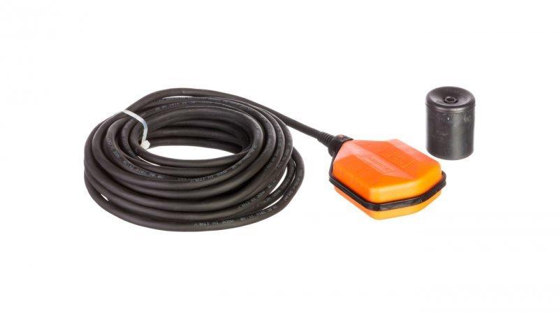 Wyłącznik pływakowy z przewodem NEOPREN 5m do wody czystej i szarej z przeciwwagą LVFSN1W05