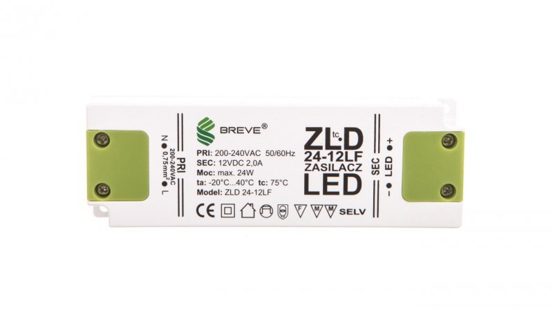 Zasilacz LED 12V DC 24W ZLD 24-12LF2,0A 19712-9024