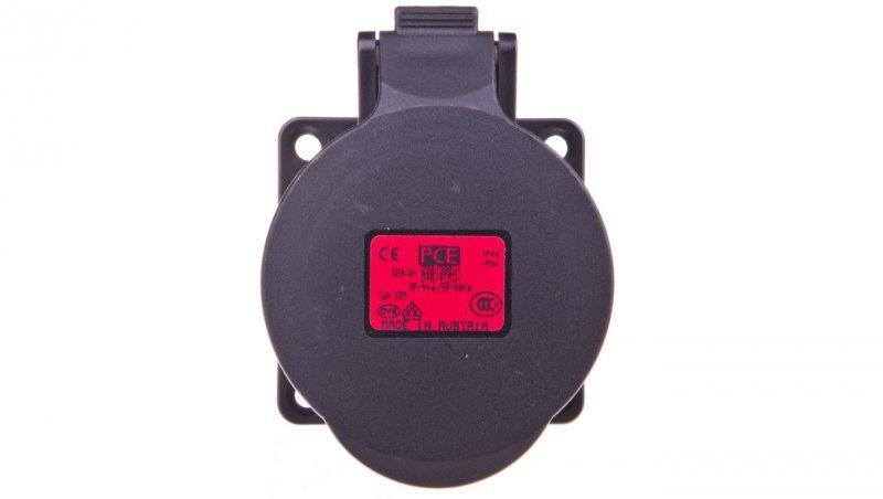 Gniazdo tablicowe 32A 5P 400V /70x70/ czarne IP44 325-6x