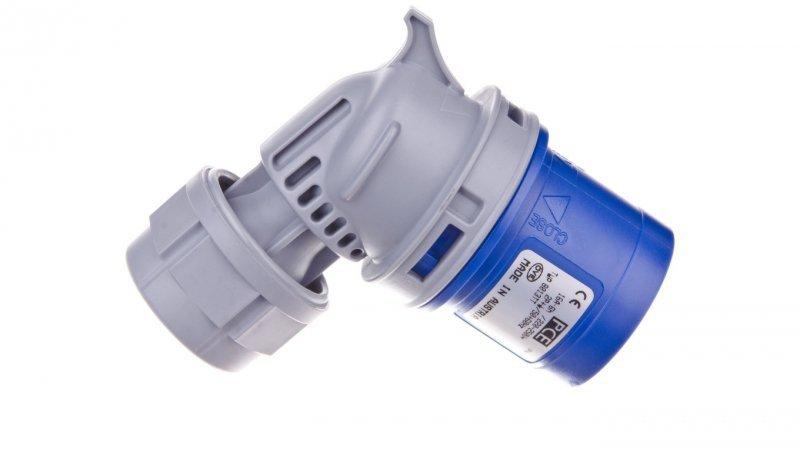 Wtyczka przenośna kątowa 16A 3P 230V niebieska IP44 TURBO TWIST 8013-6TT