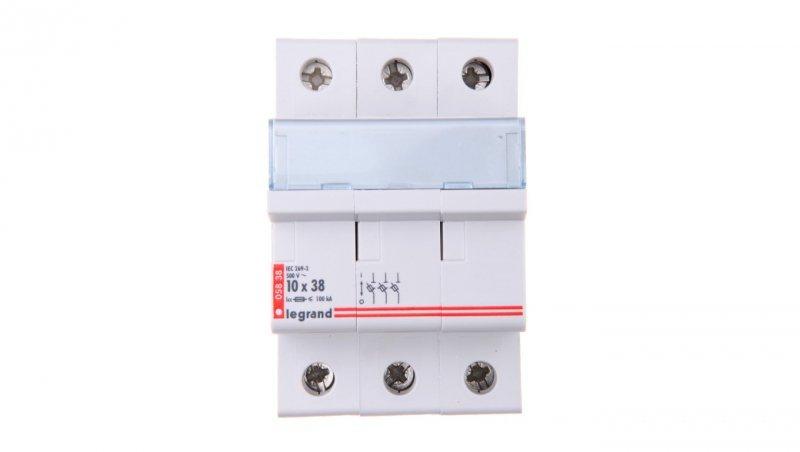 Legrand Rozłącznik bezpiecznikowy cylindryczny 3P 10x38mm RB338 005838