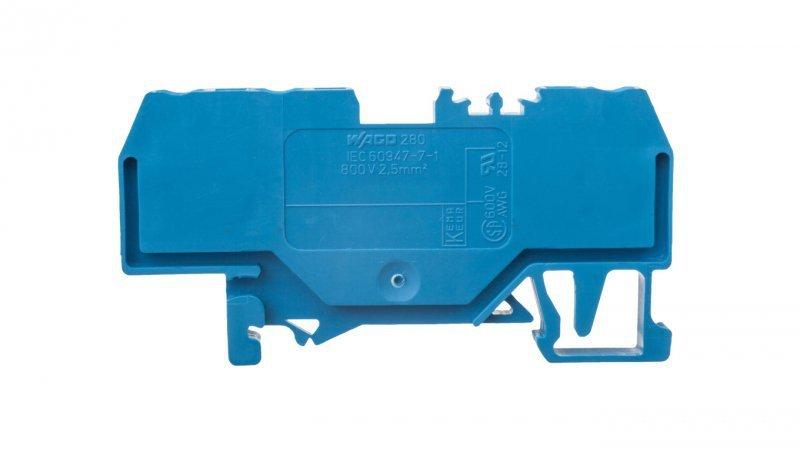 Złączka szynowa 3-przewodowa 2,5mm2 niebieska 280-684