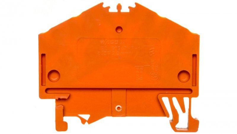 Złączka szynowa 4-przewodowa 2,5mm2 pomarańczowa 280-946