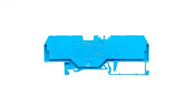 Złączka szynowa 4-przewodowa 4mm2 niebieska 281-654