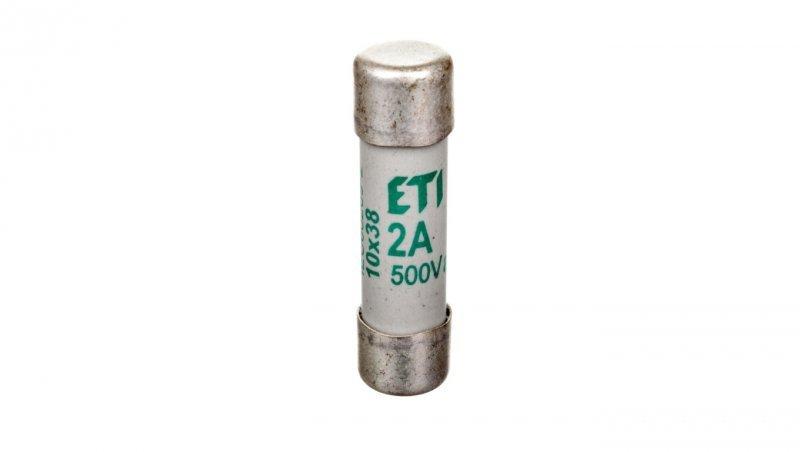 Wkładka bezpiecznikowa cylindryczna 10x38mm 2A aM 500V CH10 002621001