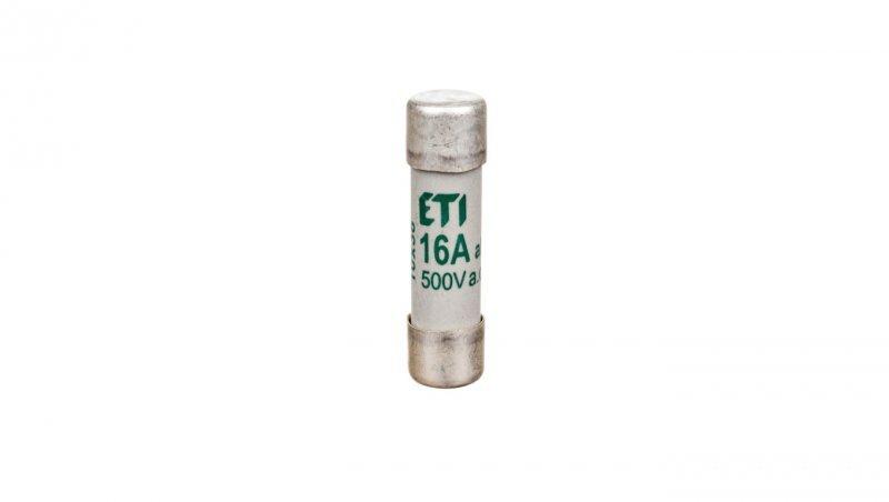 Wkładka bezpiecznikowa cylindryczna 10x38mm 16A aM 500V CH10 002621009
