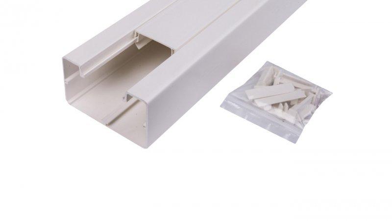 KONTAKT Simon Connect Kanal jednokomorowy Cabloplus PVC 90x55mm czysta biel TK12081/9