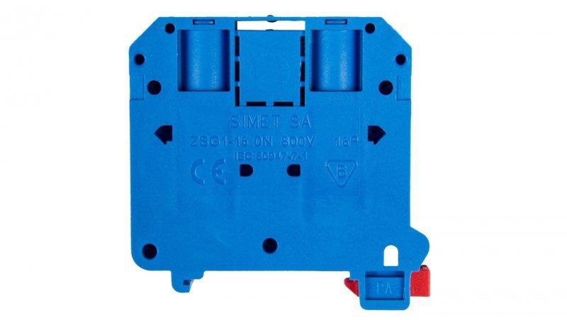 Złączka szynowa 2-przewodowa 16mm2 niebieska NOWA ZSG 1-16.0Nn 11621313