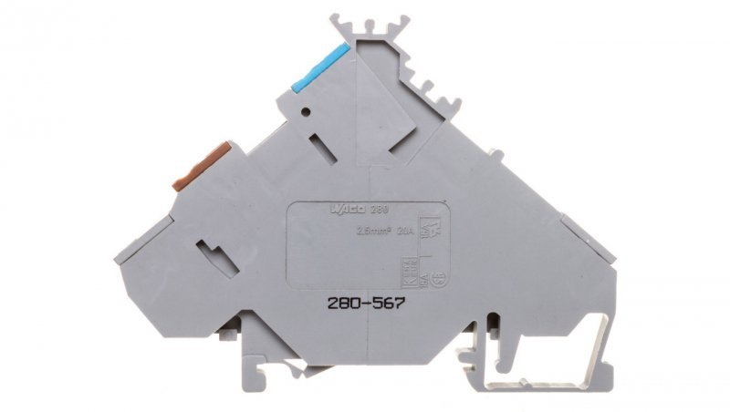 Złączka 0,08-2,5mm2 szary 20A DIN 35mm 280-567