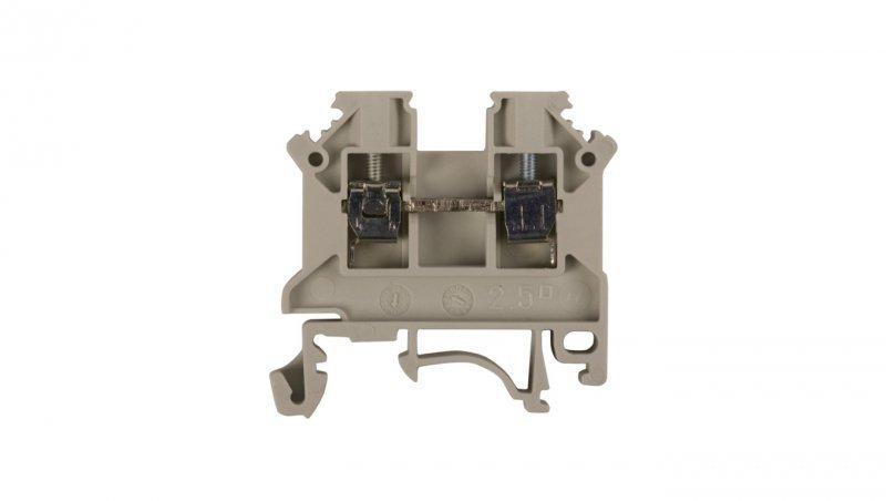 Złączka szynowa 2-przewodowa 2,5mm2 szara NOWA ZSG 1-2.5Ns 11221312