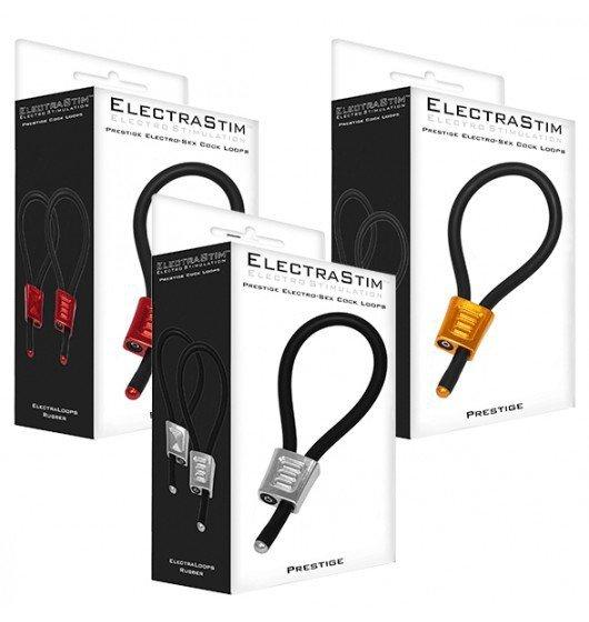 ElectraStim - Prestige Electraloops 2 x Regulowany Cockring (czerwony)