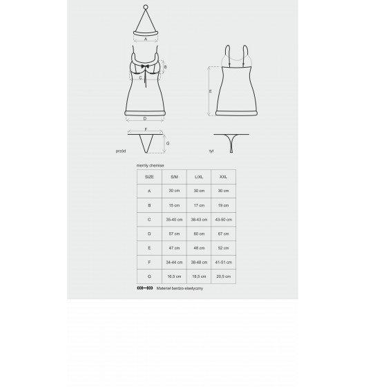 Merrily koszulka i stringi L/XL