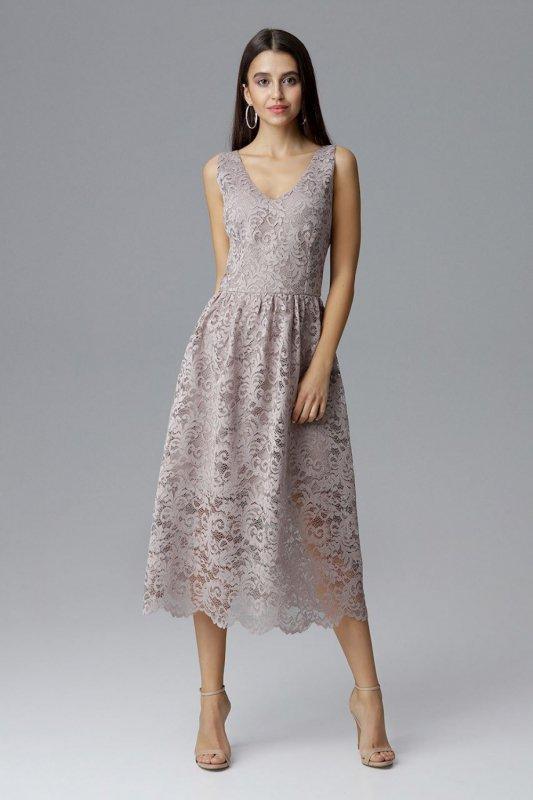 Sukienka Model M639 Beige - Figl