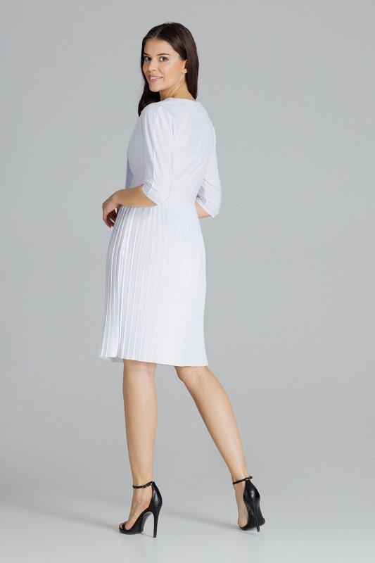 Sukienka L076 Biały L