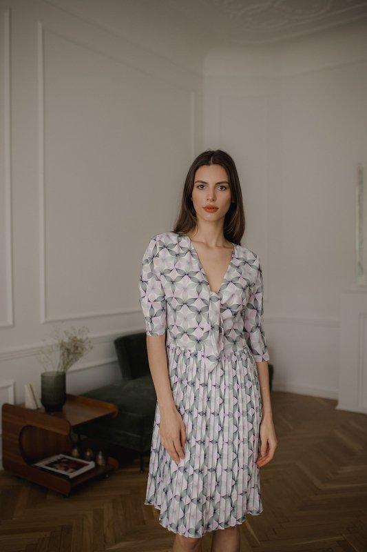Sukienka L076 Wzór 113 L