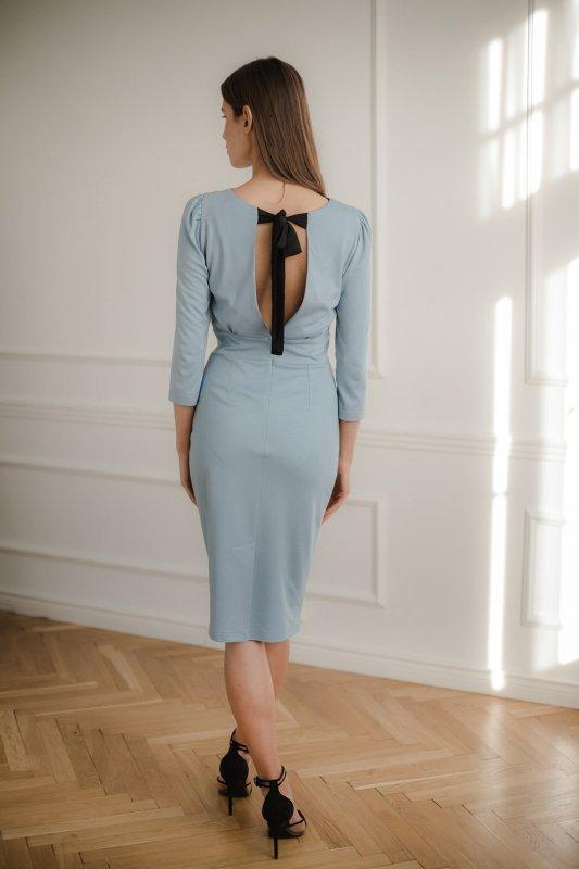 Sukienka L079 Niebieski XL