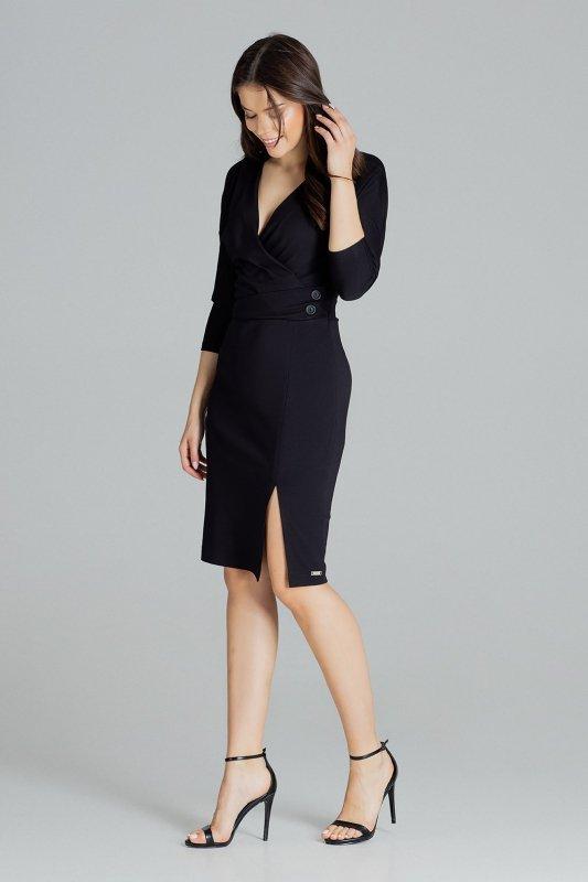 Sukienka L086 Czarny L