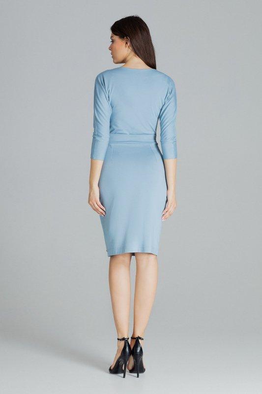 Sukienka L086 Niebieski M