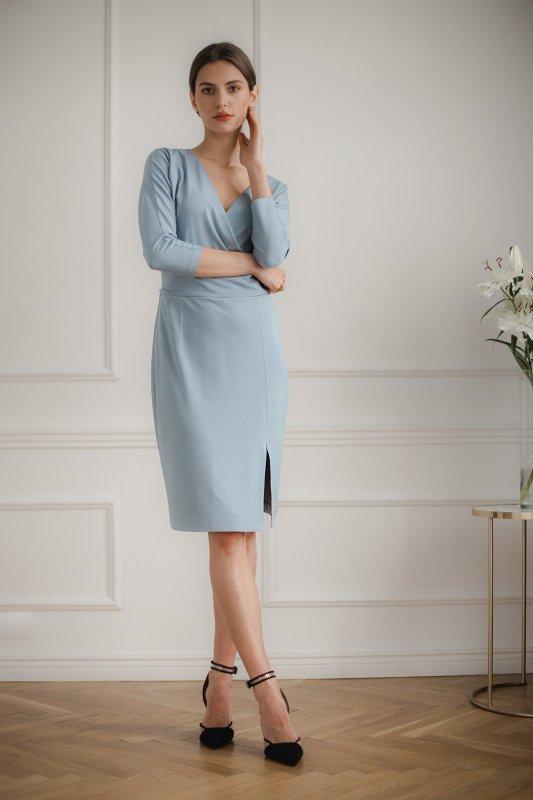 Sukienka L086 Niebieski XL