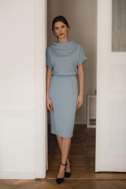 Sukienka L087 Niebieski XL