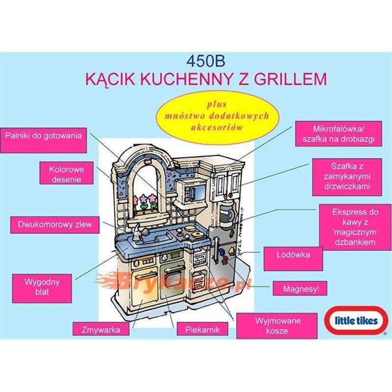 Little tikes Kuchnia - Kącik kuchenny z grillem Kuchenka