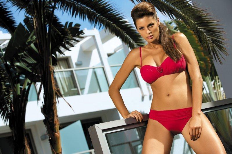 Kostium kąpielowy Larisa Sporting Red M-204 Czerwony (18)