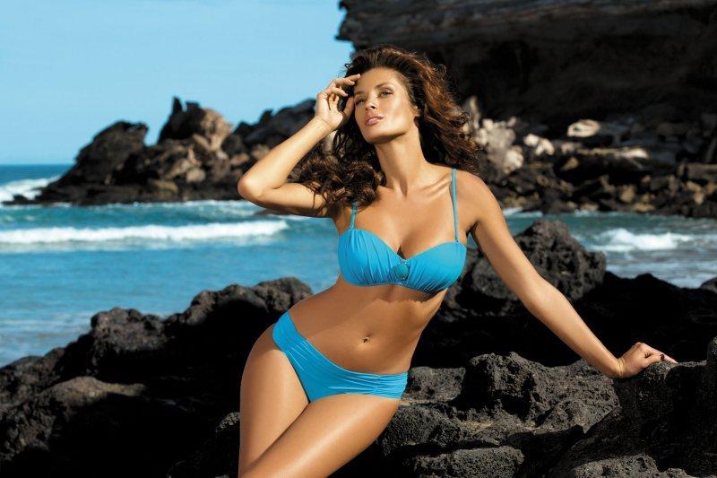 Kostium kąpielowy Larisa Holiday M-204 Błękitny (9)