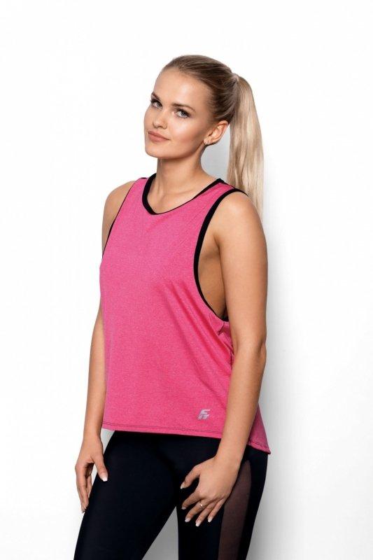 Koszulka Fit   Abel różowy-czarny - Eldar
