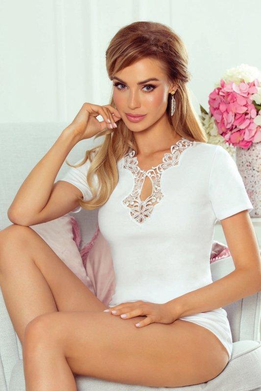 Koszulka nocna Bluzka   Leila biały - Eldar