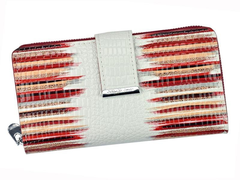 Damski Skórzany portfel Jennifer Jones 5280 Brązowy