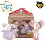 Meiya & Alvin - Meiya Mouse Organic Baby Shower Set z grzechotką