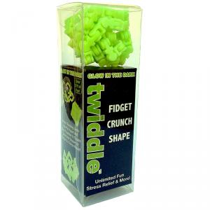 Klocki złączki świecące w ciemności Twiddle - jasno - zielone