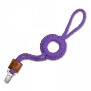 Hi Little One - sznurkowa zawieszka z kółkiem do smoczka Pacifier holder with RING Purple