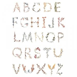 Plakat  do pokoju dziecka Alfabet - duży - Mushie