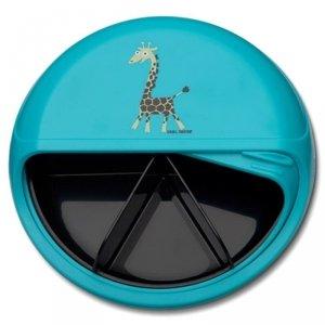 Carl Oscar BIG SnackDISC™ 5 komorowy obrotowy pojemnik na przekąski niebieski -Żyrafka