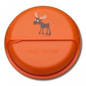 Carl Oscar BIG SnackDISC™ 5 komorowy obrotowy pojemnik na przekąski Orange - Moose