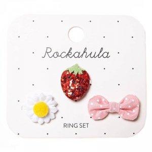 3 pierścionki  dla dziewczynki - Słodka Truskawka - Rockahula Kids