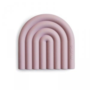 Gryzak silikonowy dla dziecka TĘCZA - Mauve - Mushie
