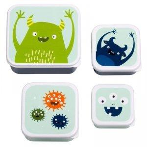 Lśniące Lunchboxy śniadaniówki POTWORKI - A Little Lovely Company  - 4 szt.