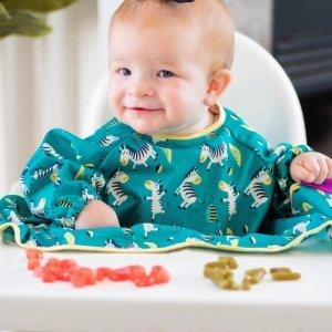 Śliniaki fartuszkowe z przyssawkami dla dzieci BLW Cover & Catch Bib Dancing Zebras - Tidy Tot - 2szt.